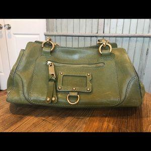Green Marc Jacobs shoulder bag with gold hardware